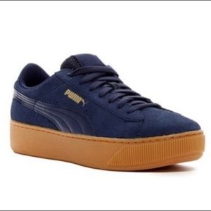 Puma Vikki suede platform sneaker